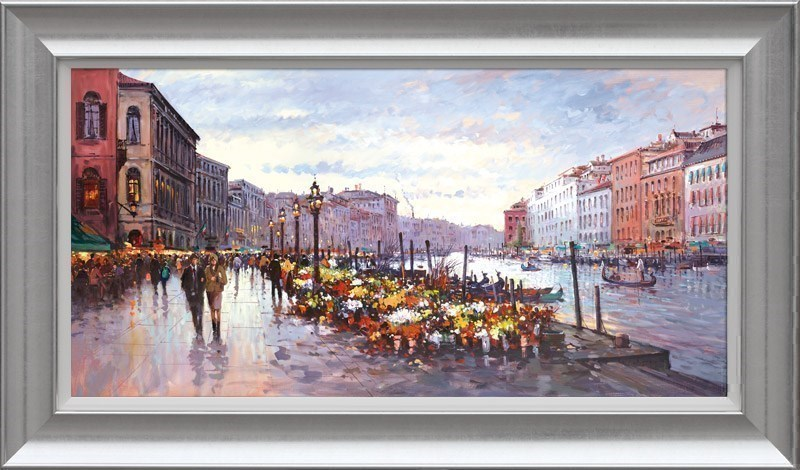 Afternoon in Venice by Henderson Cisz - Hand Finished Limited Edition on Canvas sized 36x18 inches. Available from Whitewall Galleries